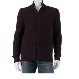 Modern Fit Full Snap-Front Cardigan Sweater XL